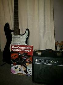 Starcaster fender guitar with amp