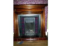 Solid mahogany wood fire surround