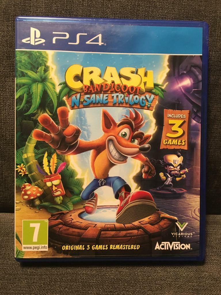 Ps4 Crash Bandicoot N Sane Trilogy | in Duddingston, Edinburgh | Gumtree