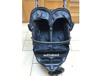 Out n About Nipper Double 360 V4 Stroller (Raven Black)