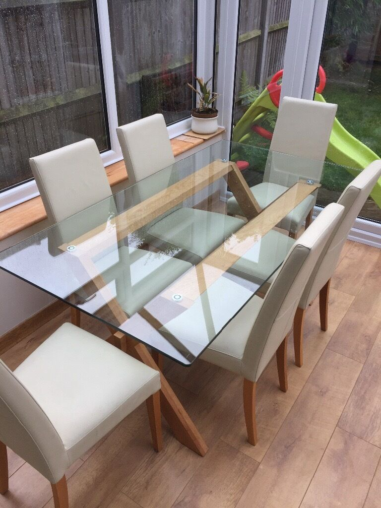 John Lewis glass dining table and 6 chairs in Chatham  : 86 from www.gumtree.com size 768 x 1024 jpeg 129kB