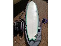 Torq 7ft 2 Mod Fish surfboard