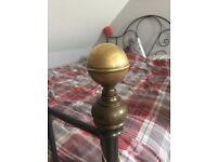 Swirly Brass & Iron King Size Bed
