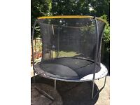 12ft trampoline with enclosure and step ladder very good condition.