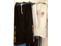 Martial Arts (WSK) Jacket, Trouser, and Belt worn once £15 inc used shin pad and gloves