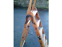 Antique Pine Simplex Step Ladders (Selling for £700 on antique websites)