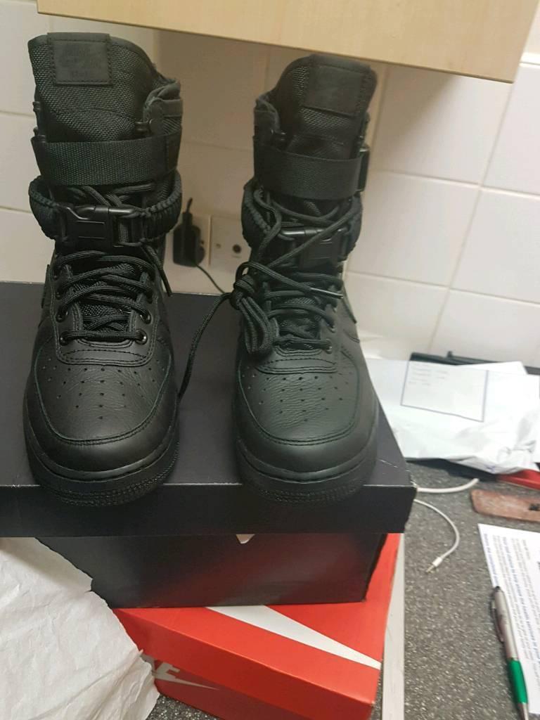 Nike SF Air Force AF1 Hi 1.0 - Men Shoes UK size 6 in all black 07895619210 e29b78b0f