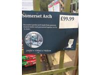 Wyvedale Somerset wooden garden arch. Treated wood. 10year guarantee brand new £99