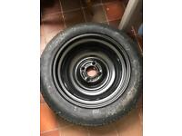 Space saver spare wheel with jack (T 125/80 R15)
