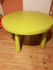 Ikea Children's table and chair