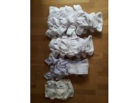 Bundle of Washable Reusable Cloth Nappies & Covers, various sizes, TotsBots & Mother-ease, o.n.o.