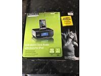 DAB Alarm Clock Radio with Dock for ipod