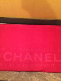 Chanel Fuschia Shawl