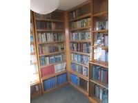Minty glass-fronted book cases – as corner unit or freestanding