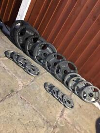 OLYMPIC TRIGRIP WEIGHTS SET. •Can Deliver•