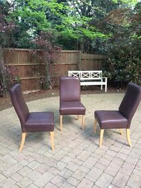 No reasonable offer refused -Leather dining chairs for sale