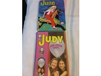 Judy For Girls Vintage Annual 1982 and June Book 1973 A Fleetway Annual