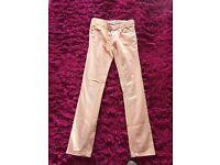 M & S Girls Jeans peach colour