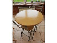 2 Seater Fold up Table and Chairs ...Handy for Christmas, Great Condition