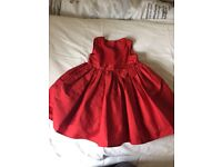 18-24mth girls red occasion dress ( mothercare)