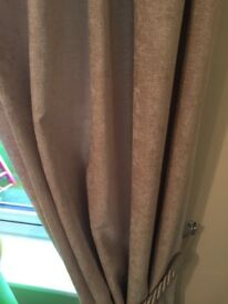 Dunelm chenille cream curtains
