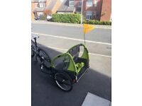 Adventure AT3 Alloy 2 Seater Kids Bike Trailer Green / Grey
