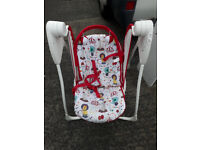 Graco babies battery operated swinging rocker