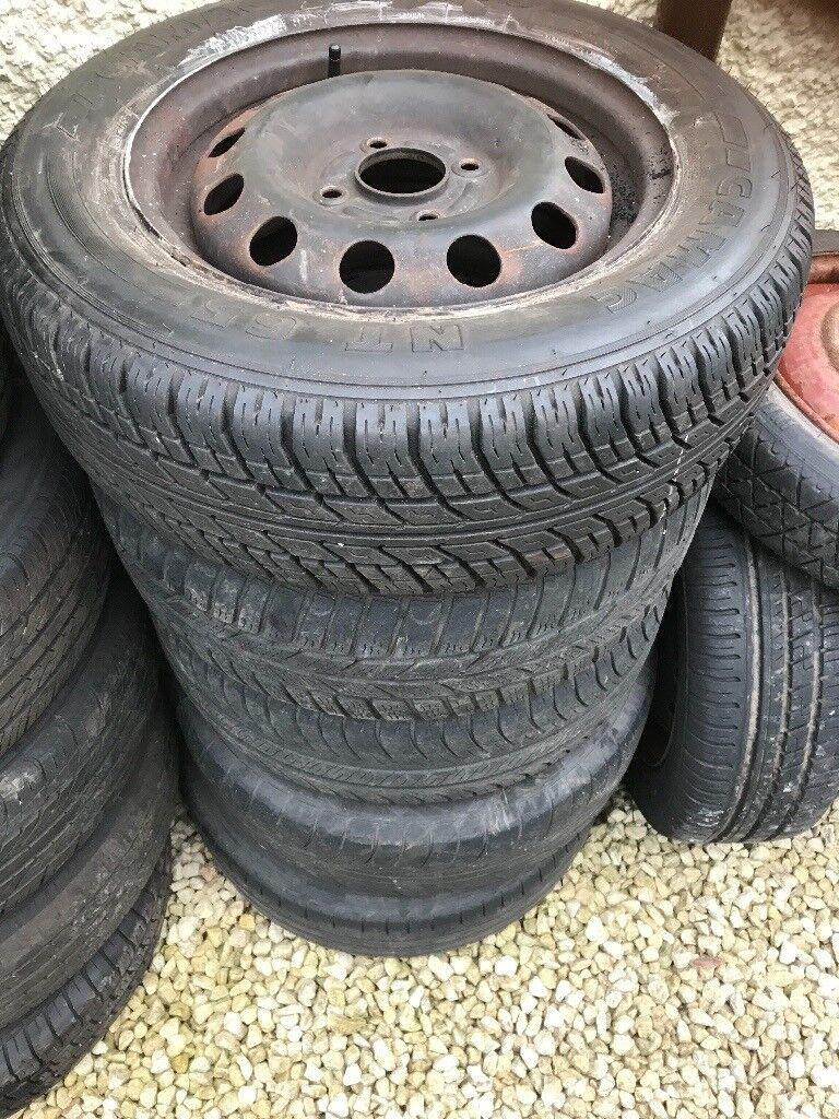 4 steel wheels plus 1 spare 185/65 R14