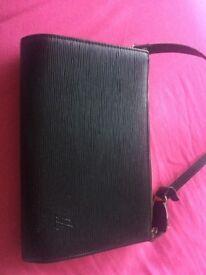 Louis Vuitton black epi shoulder bag