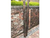 Pair Large Thick Oak Planks/Beams Of Wood - Reclaimed Old