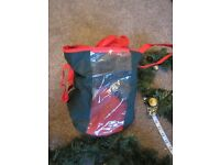 2 Christmas Garland decorations and storage bag -used