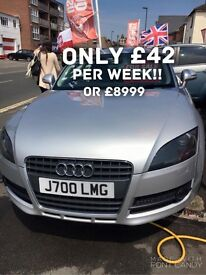 Audi TT only £42 per week on finance