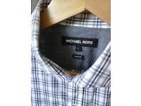 michael kors dress shirt brand new size L slimfit detailed cuffs
