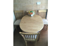 Solid Wood Oak? Dining / kitchen table with 4 chairs