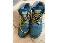 Blue Suede Caterpillar boots