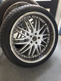 "Bmw x5 22""alloy with tyres"