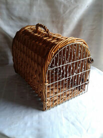 Wicker Travel Vet Pet Carrier Portable Box Cat Kitten Dog Puppy Rabbit FREE LOCAL DELIVERY