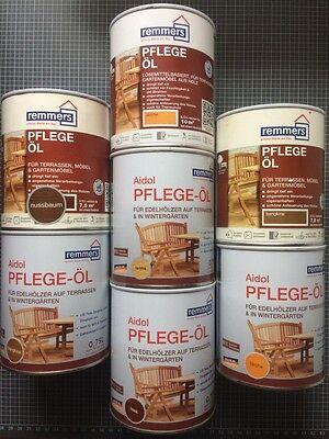 Remmers Pflegeöl 0,75 Liter Holzöl Farblos Teak Öl Hartholzöl 11,99€/Liter!