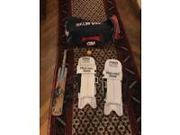 Cricket bat + bag + equipment