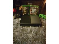Xbox one 500gb like new... Comes with 2 controllers, gta 5 and fallout 4. In original box.