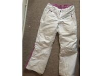 Women Skiing pants size 12/14 - White (also selling the matching jacket)