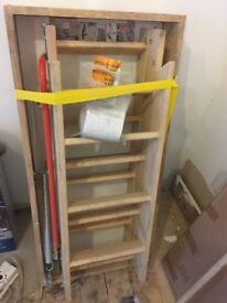 Fakro 3 Section Wooden Loft Ladder 550 x 1110mm FSC®