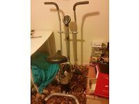 Black exercise bike with digital monitor