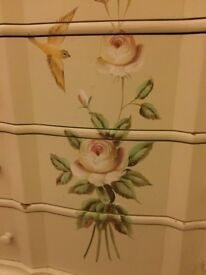 Mdf small hand painted chest of draws