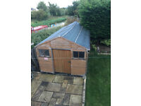 Large Garden Shed With Apex Roof 10feet x20feet Large Door with Extra Internal Support on Frame