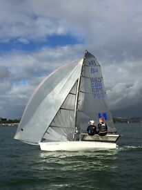 B14 Carbon Mast Dinghy with refurbished Road Trolley