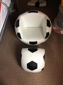 Football chair armchair children kids soccer
