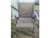 Garden chairs x 4 Need TLC