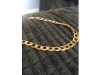 Men's 9ct Solid Gold Bracelet