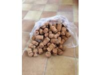 100 assorted champagne & prosecco corks - used - for arts & crafts